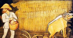 fresco in the church of San Fiorenzo, Bastia di Mondovì (CN), around 1472 CE (detail)